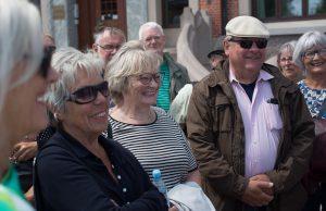 Medlemmer af Ældresagen ved Toldboden, Aalborgs havnefront. Foto: Jan Høst-Aaris