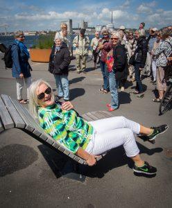 Medlemmer af Ældresagen på Aalborgs havnefront. Foto: Jan Høst-Aaris