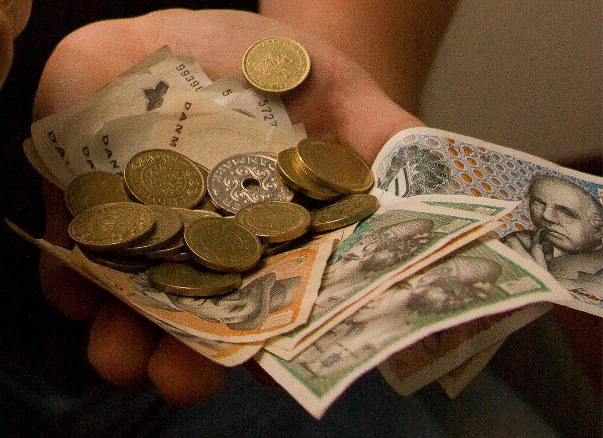 Mønter og sedler. Foto: Jan Høst-Aaris