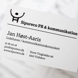 Sipureco PR & kommunikations nye visitkort. Foto: Jan Høst-Aaris